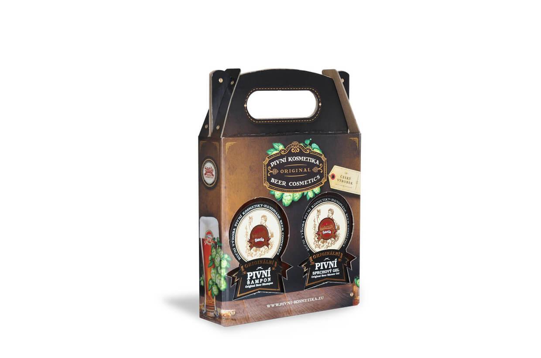 Set de cadouri mini II. – șampon cu bere plus gel de duș