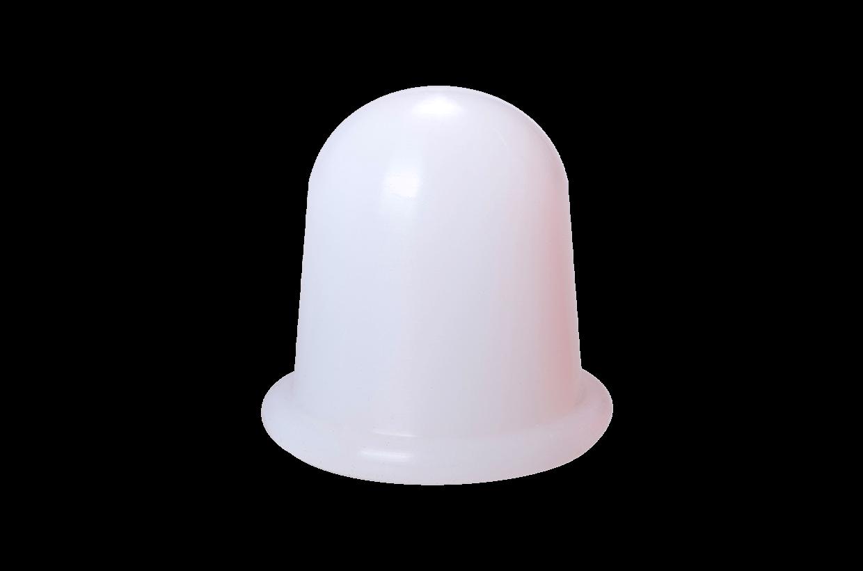 Ventuză de silicon M alb