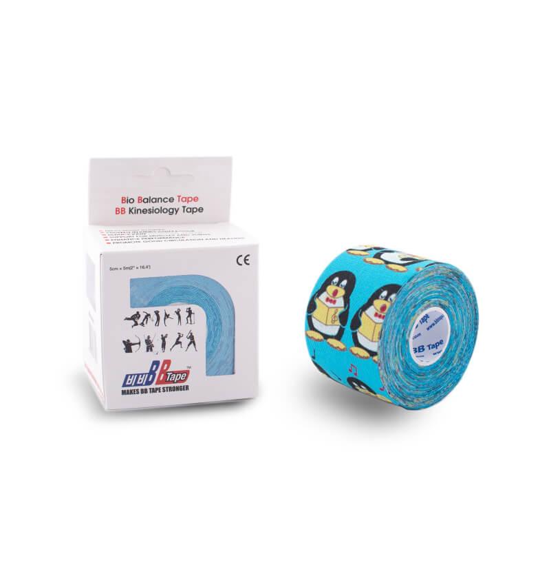 BB pentru piele sensibilă PENTRU COPII 5cm x 5m pinguin albastru