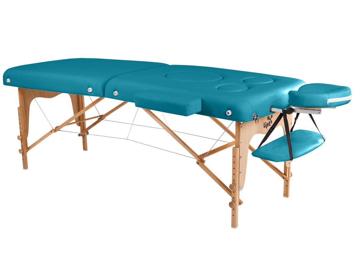 Masă de masaj Lipt® DT-03 (pentru femeile gravide) Turcoaz