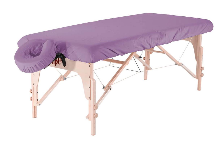 Set - învelitoare protecție pentru masă și tetieră violet