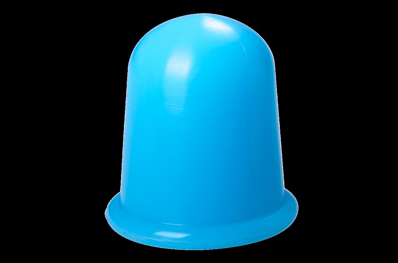 Ventuză de silicon L albastru