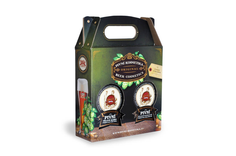 Set de cadouri VI. - lapte de bere plus sare de bere 2x500ml