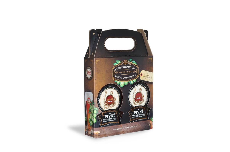 Set de cadouri mini III. – Gel de duș cu bere plus peeling corporal