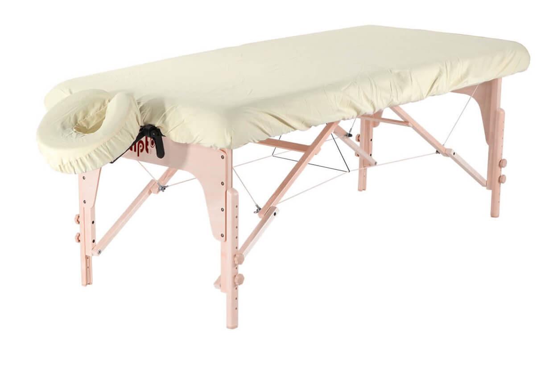 Set - învelitoare protecție pentru masă și tetieră nisipiu