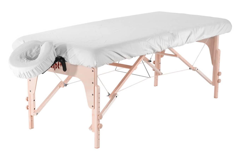 Set - învelitoare protecție pentru masă și tetieră alb