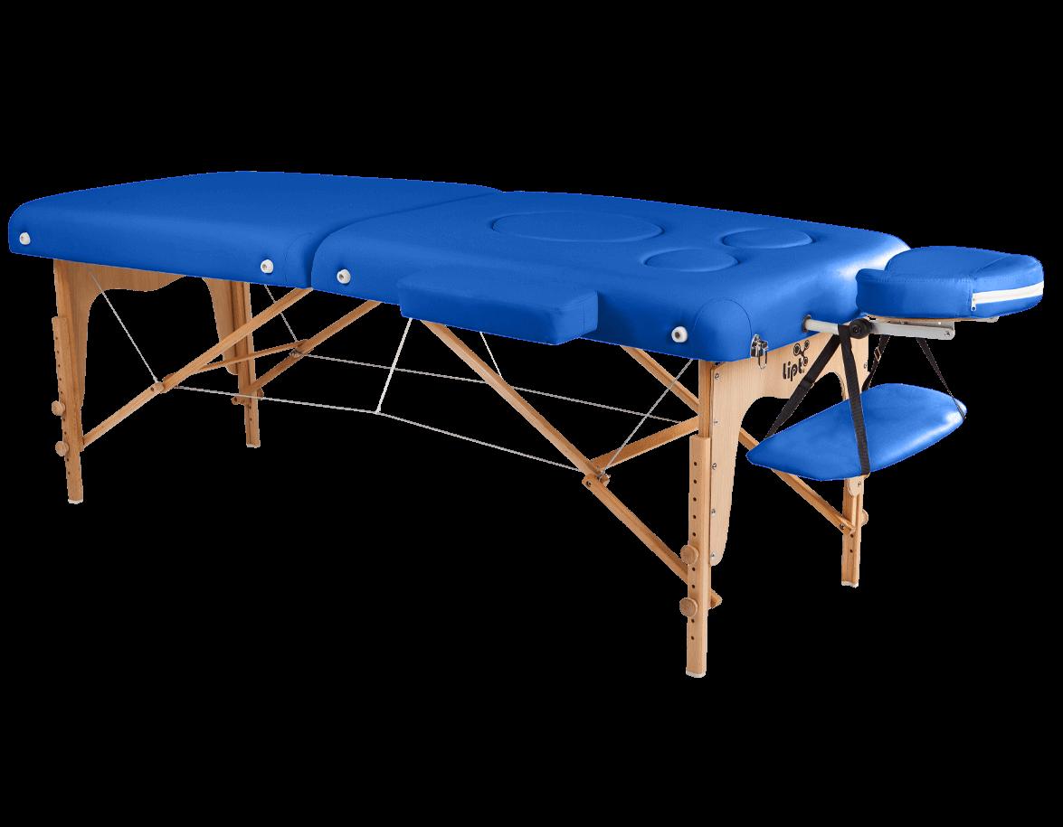 Masă de masaj Lipt® DT-03 (pentru femeile gravide) Albastru