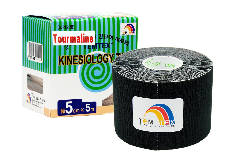 TEMTEX tape Tourmaline 5 cm x 5 m Negru