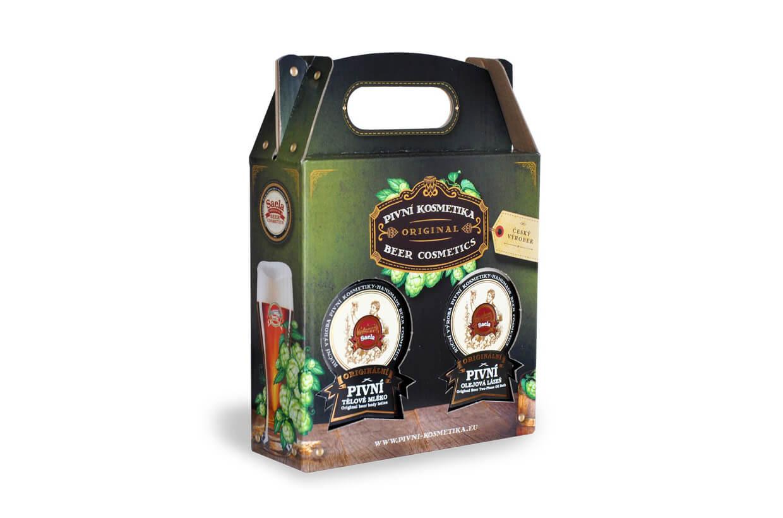 Set de cadouri V. - lapte de bere plus baie de bere 2x500ml