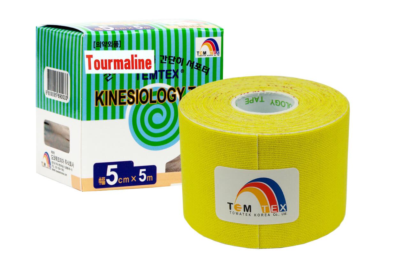 TEMTEX tape Tourmaline 5 cm x 5 m Galben
