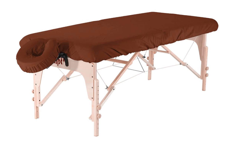 Set - învelitoare protecție pentru masă și tetieră maro