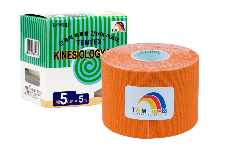 TEMTEX tape Classic 5 cm x 5 m Portocaliu