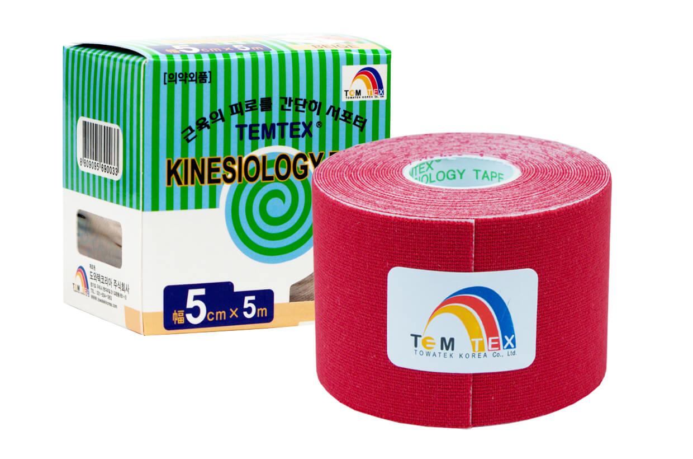 TEMTEX tape Classic 5 cm x 5 m Rosu