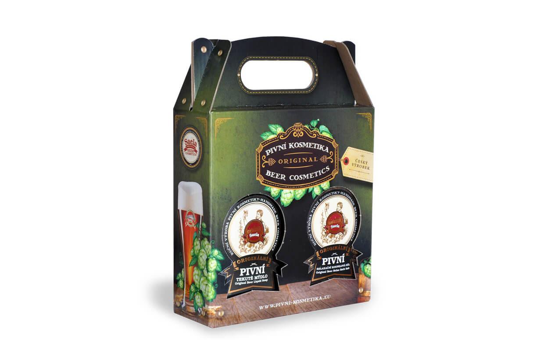 Set de cadouri IV. - săpun lichid de bere plus sare de bere 2x500ml