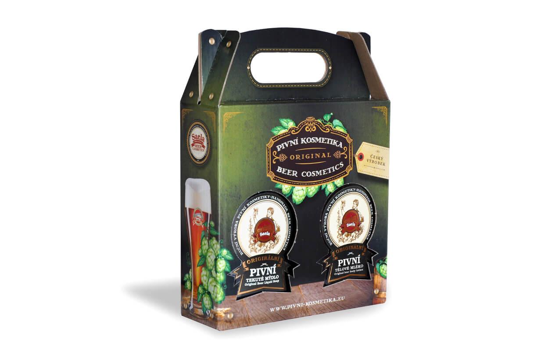 Set de cadouri I – săpun lichid de bere plus lapte de corp cu bere 2x500ml