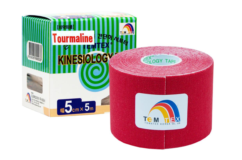 TEMTEX tape Tourmaline 5 cm x 5 m Rosu