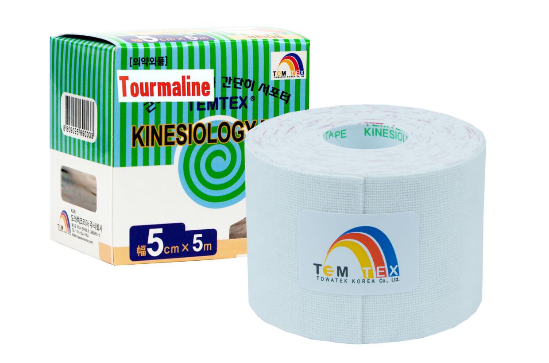 TEMTEX tape Tourmaline 5 cm x 5 m Alb
