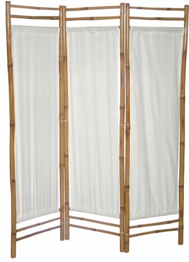 Bambusový paraván biele plátno