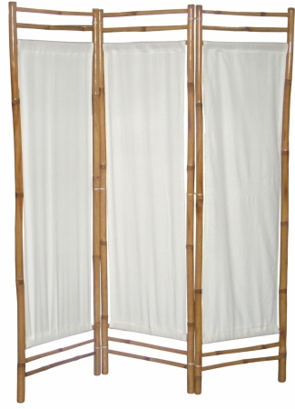 Paravan din bambus pânză albă
