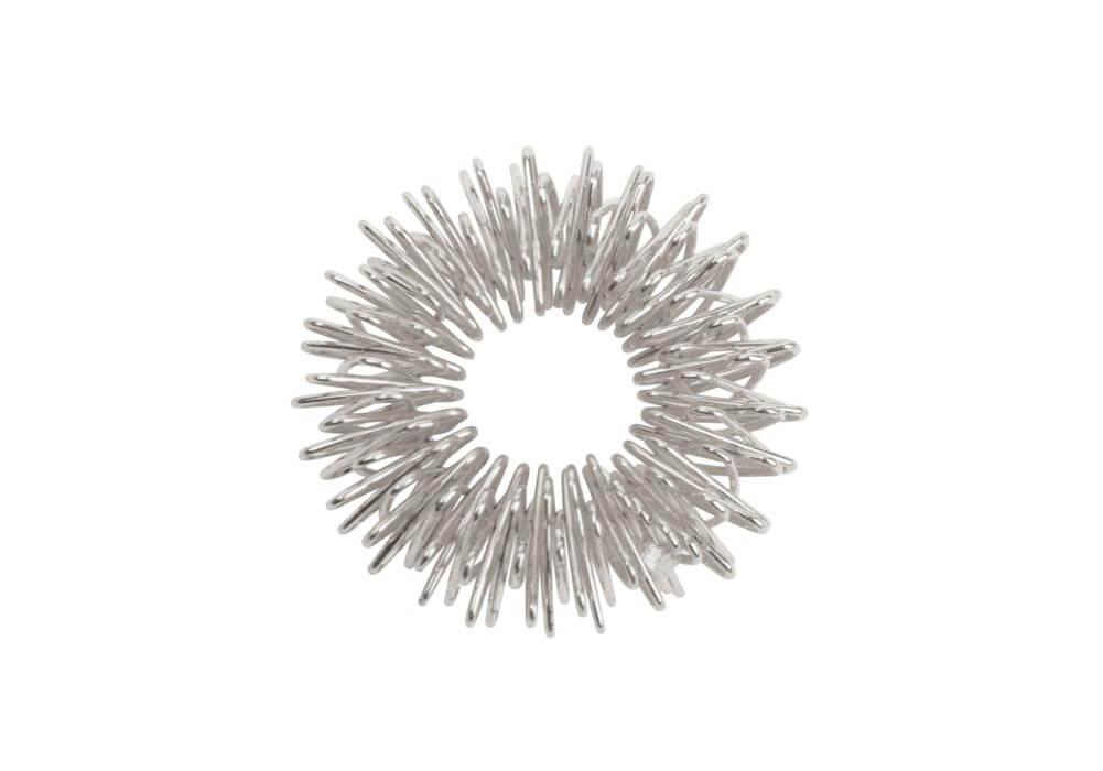Inel de masaj pentru presopunctură argintiu