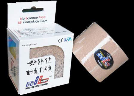 BB tape ICE - mătase artificială 5cm x 5m bej