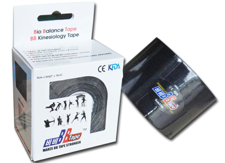 BB tape ICE - mătase artificială 5cm x 5m negru