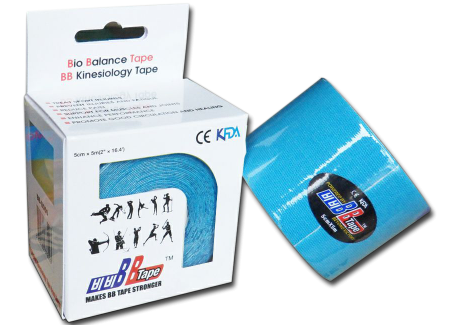 BB tape ICE - mătase artificială 5cm x 5m albastru