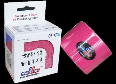 BB tape ICE - mătase artificială 5cm x 5m roz