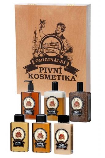 Darčekové balenie - Pivná kozmetika (drevená sada)