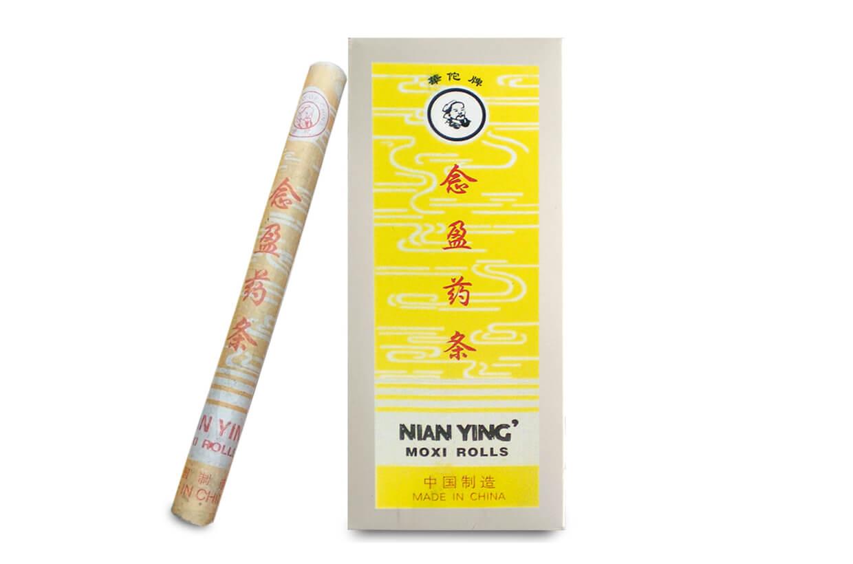 Baton lung din plante pentru moxibustie Nian Ying 10 buc