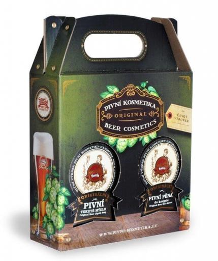 Set de cadouri II - săpun lichid de bere plus spumă de bere 2x500ml