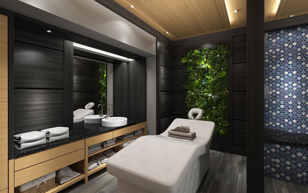 Mobilierul așezat în mod corect, poate ajuta la izolarea fonică a camerei de masaj